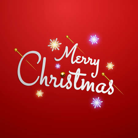 Merry Christmas letters stylized for the drawing.  Vector