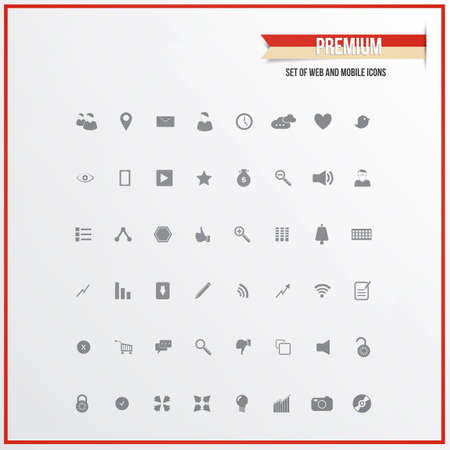 Set of web and mobile icons for business.  Vector