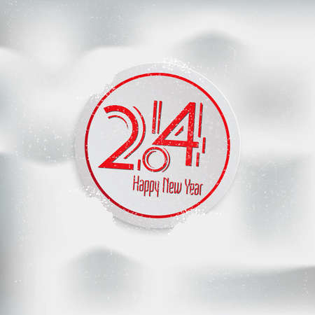 Greeting card- Happy New Year  Vector Vector