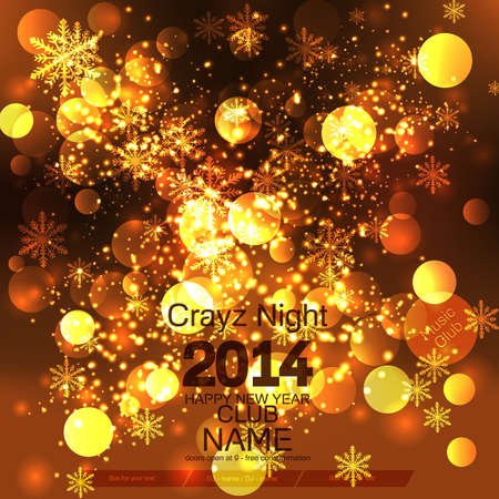 New Year 2014  Flyer Template  Vector Stock Vector - 24550234