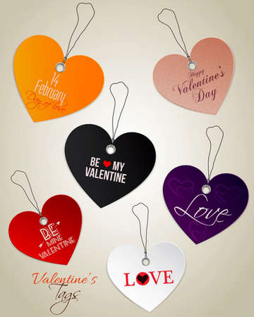Valentines Day tags. Vector Vector