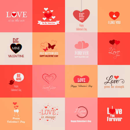 mothers day: Happy valentines day cards. Vector