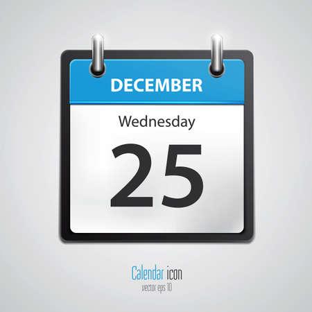 カレンダー型のアイコン。ベクトル  イラスト・ベクター素材