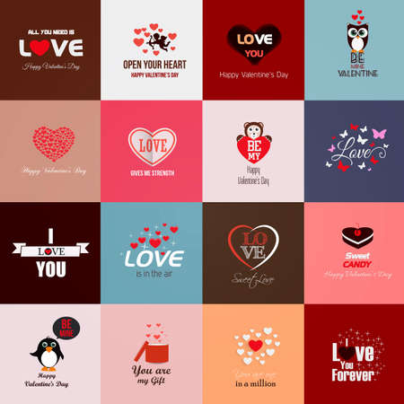 Happy valentines day cards. Vector Vector