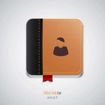 Address book icon. Vector Vector
