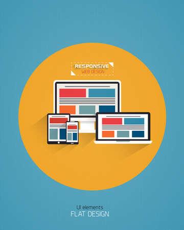Responsive Web Design - Flat Style Design. Vector Vector