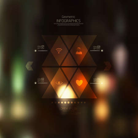 Retro abstract background. Geometric style-web and mobile interface template. Can use for infographics. Vector Vector