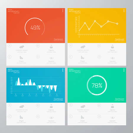 graph paper: Interface Template-Modern Concept For Internet Web. Flat design. Vector
