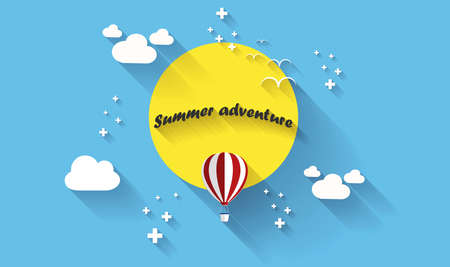 creative design: Summer adventure poster. Vector