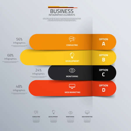 Business concept infographic template.  Vector