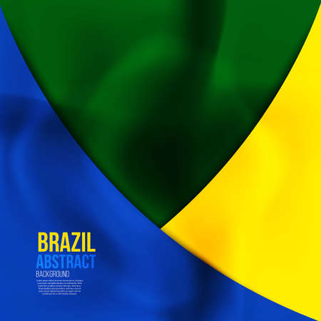 world cup: Brazil flag concept