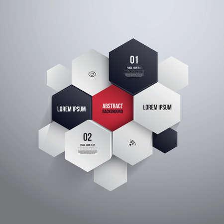 Hexágono Diseño Vectores