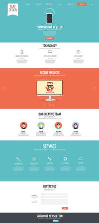 website header: Website interface template