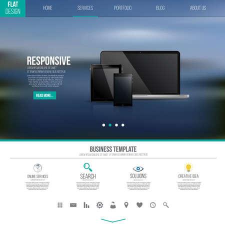 Conception de modèle d'interface de site web Banque d'images - 28916195