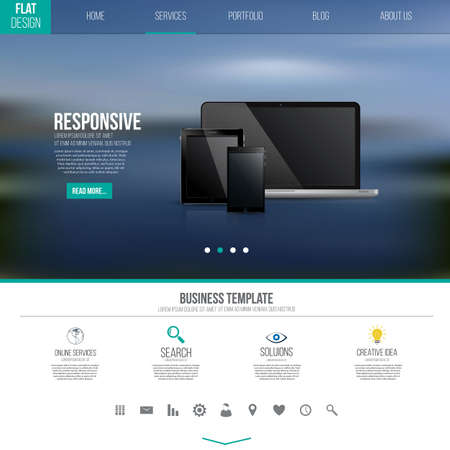 Website interface template design Vector
