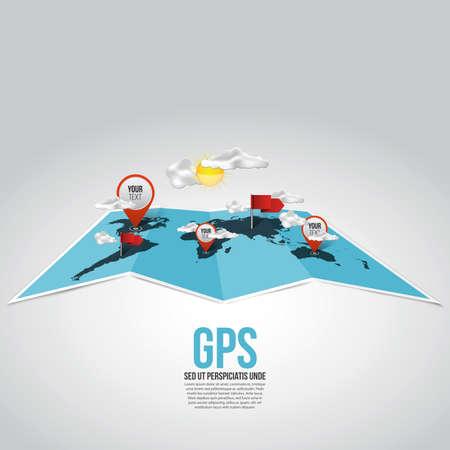 map compass: World Map navigation concept