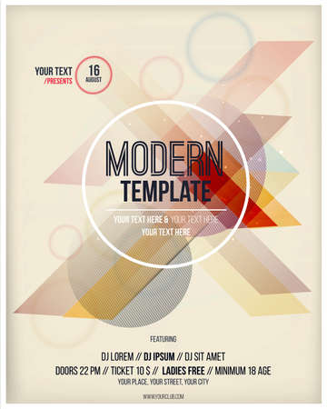 poster template: Party poster template. Vector