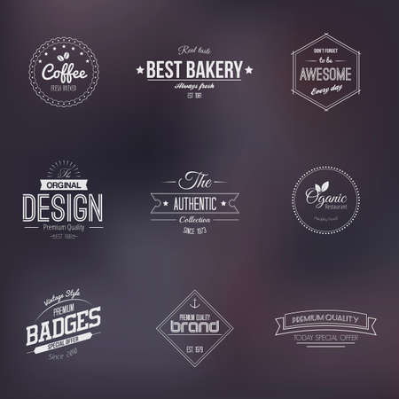 seal stamp: Trendy Retro Vintage Badges and labels collection. Vector