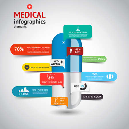 Medische Infographics elements.Design concept. Vector