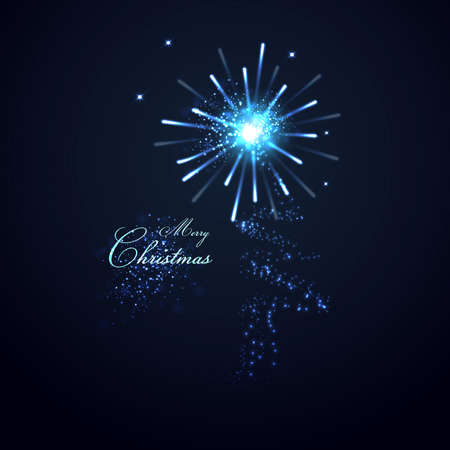 Christmas tree from light background Vector
