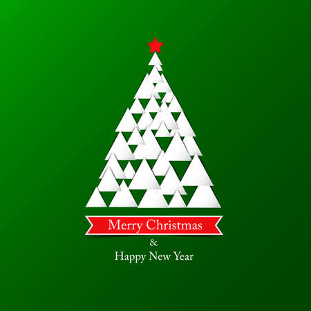 Modern abstract christmas tree background. Vector Vector