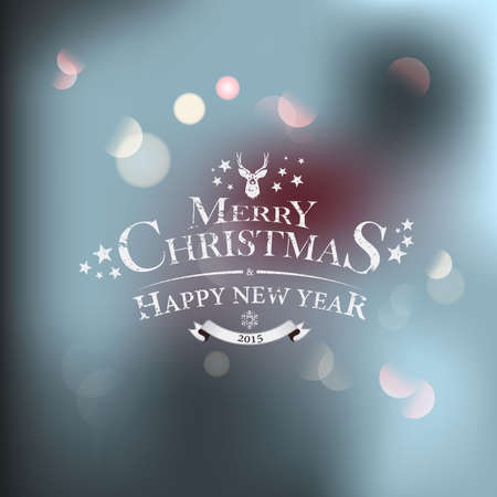 Christmas greeting card - holidays lettering. Vector Vector
