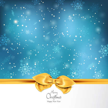 fall winter: Elegant Christmas background with snowflakes. Vector