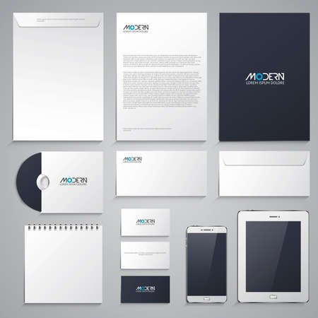 envelope: Corporate identity design - Stationery set design. Vector