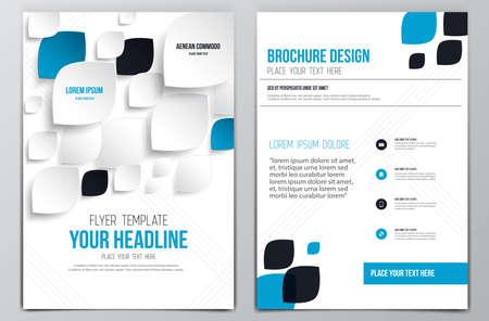 パンフレットのデザインのテンプレートです。