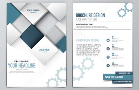 headline: Brochure Design Template.  Illustration
