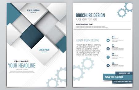 Brochure Design Template.  Illustration