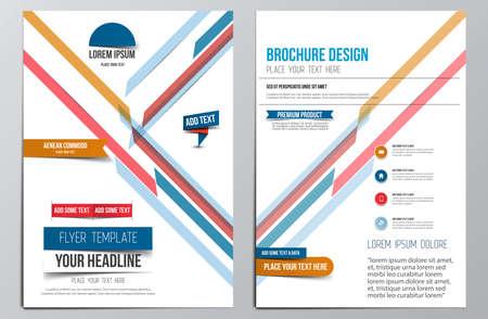 template: Brochure Design Template.  Illustration