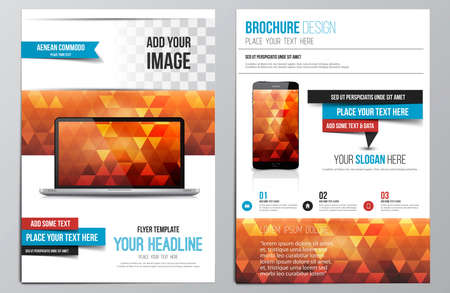 blank brochure: Brochure Design Template.  Illustration