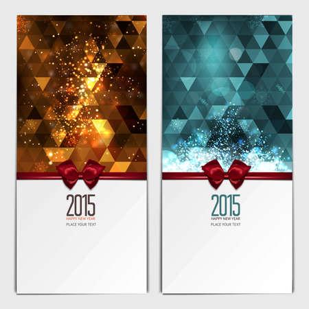 Kerst wenskaarten. Plaats voor uw tekst bericht. Ontwerp in de moderne kerst kleuren. Vakantie brochure ontwerp voor zakelijke wenskaarten. vector
