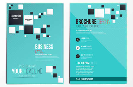 blank magazine: Brochure Design Template. Geometric shapes, Abstract Modern Backgrounds, Infographic Concept. Vector Illustration