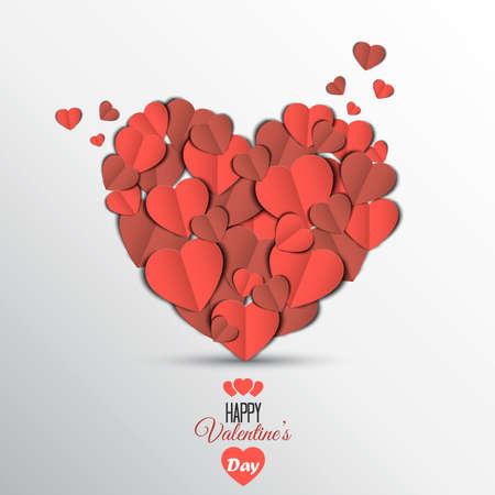 canvas print: Coraz�n de papel de San Valent�n Tarjeta del d�a. Puede ser utilizado para el papel pintado, impresi�n de la lona, ??la decoraci�n, la bandera, la publicidad. Vector Vectores