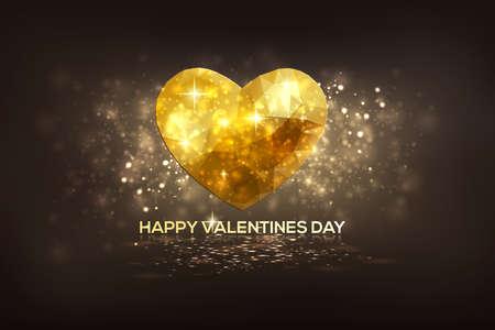 coeur diamant: Lumineux c?urs de diamant modernes Day.Can de Valentine être utilisés pour papier peint, impression sur toile, décoration, bannière, publicité. Vecteur