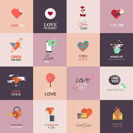 engel tattoo: Gl�ckliche Valentinstag-Karten. Vektor