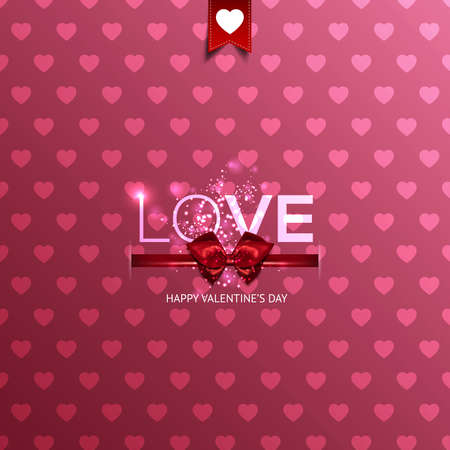 canvas print: Happy Valentines Day card with hearts. Can be used for wallpaper, canvas print, decoration, banner, advertising. Vector Illustration