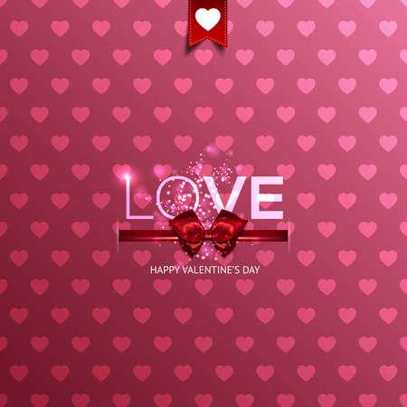 canvas print: Tarjeta feliz del d�a de San Valent�n con corazones. Puede ser utilizado para el papel pintado, impresi�n de la lona, ??la decoraci�n, la bandera, la publicidad. Vector Vectores