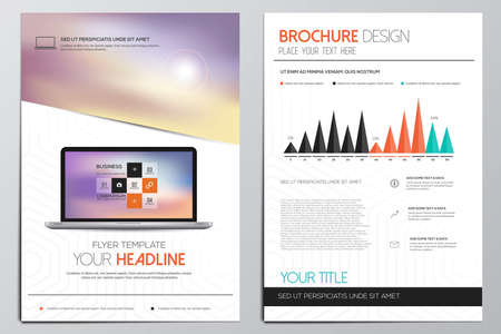 a4: Brochure Design Template. Geometric shapes, Abstract Modern Backgrounds, Infographic Concept. Vector Illustration