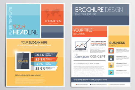 Brochure Design Template. Geometric shapes, Abstract Modern Backgrounds, Infographic Concept.Flat design. Vector Stock Illustratie