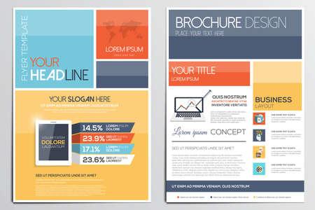 Folleto de plantilla de diseño. Las formas geométricas, Fondos modernos, diseño Infografía Concept.Flat. Vector Foto de archivo - 37267150