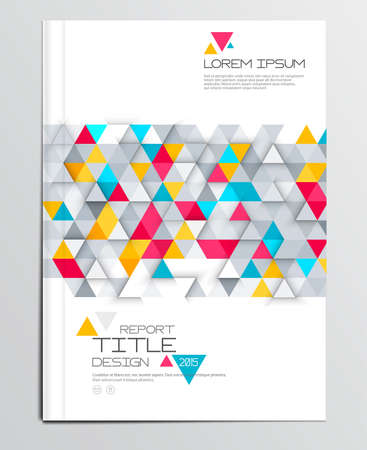 report card: Modern abstract brochure, report or flyer design template. Vector