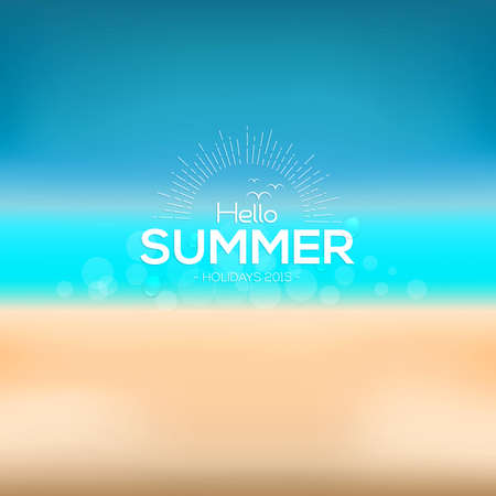 announcement: Hello Summer, creative graphic message for your summer design. Vector