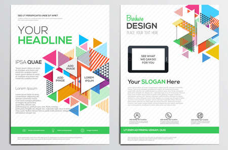 magazine design: Abstract geometric design template layout for magazine brochure flyer booklet cover annual report in A4 size.Abstract Modern Backgrounds, Infographic Concept. Vector Illustration
