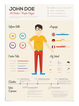 infographics입니다 플랫 다시 시작합니다. 이력서 세트를 다시 시작합니다. 벡터