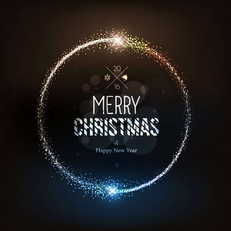 Christmas background with magic stars dust. Vector