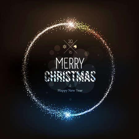 magia: Fondo de Navidad con las estrellas m�gicas polvo. Vector Vectores