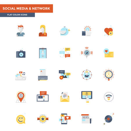 twit: Modern flat design icons for Social Media and Network. Icons for web and app design, easy to use and highly customizable. Illustration